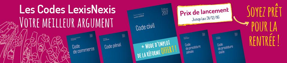 Codes éditions 2017