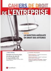 Cahiers de Droit de l'entreprise (vente au numéro)