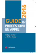 Guide du procès civil en appel 2016
