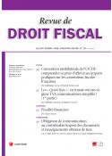 Revue de Droit fiscal